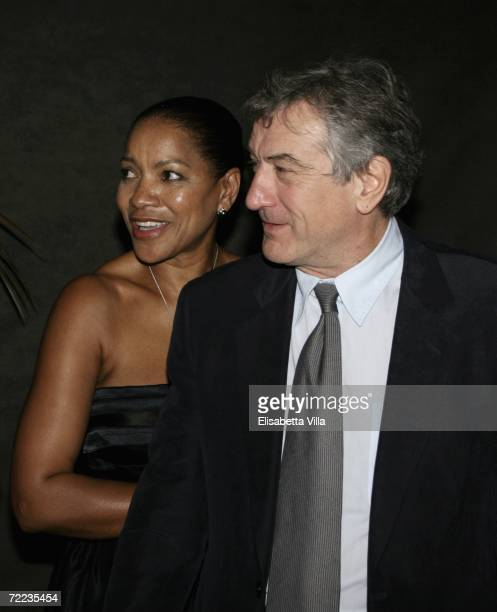 Grace Hightower and Robert De Niro attend the Steps And Stars Award in Piazza di Spagna as part of the Rome Film Festival on October 21 2006 in Rome...
