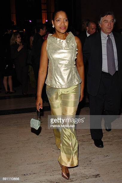 Grace Hightower and Robert De Niro attend Vanity Fair hosts their Tribeca Film Festival dinner at The State Supreme Courthouse on April 20 2005 in...