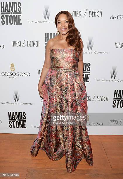 Grace Hightower attend The Weinstein Company's HANDS OF STONE After Party In Partnership With De Grisogono At Nikki Beach Carlton Beach Club on May...