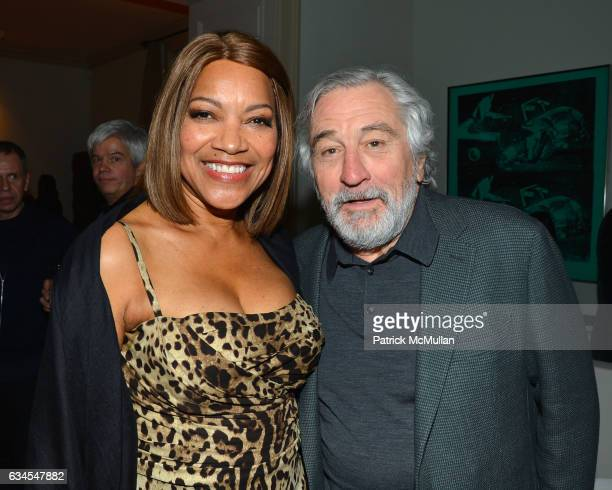 Grace Hightower De Niro and Robert De Niro attend Ermenegildo Zegna 'Defining Moments' Campaign Dinner at Private Gallery on February 9 2017 in New...