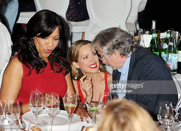 Grace Hightower Petra Nemcova and Robert De Niro attend the IWC and Finch's Quarterly Review Annual Filmmakers Dinner at Hotel Du CapEden Roc on May...