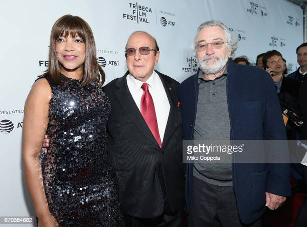 Grace Hightower Record Producer Clive Davis and Robert De Niro attend the 'Clive Davis The Soundtrack Of Our Lives' Premiere at Radio City Music Hall...