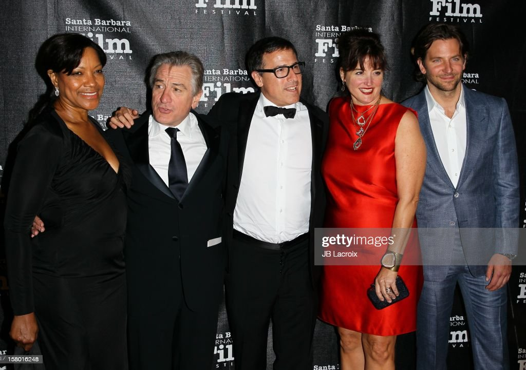 Grace Hightower, Robert De Niro, David O. Russell and Bradley Cooper attend the 7th Annual Santa Barbara International Film Festival - Kirk Douglas Award For Excellence In Film Honoring Robert DeNiro at Bacara Resport And Spa on December 8, 2012 in Santa Barbara, California.