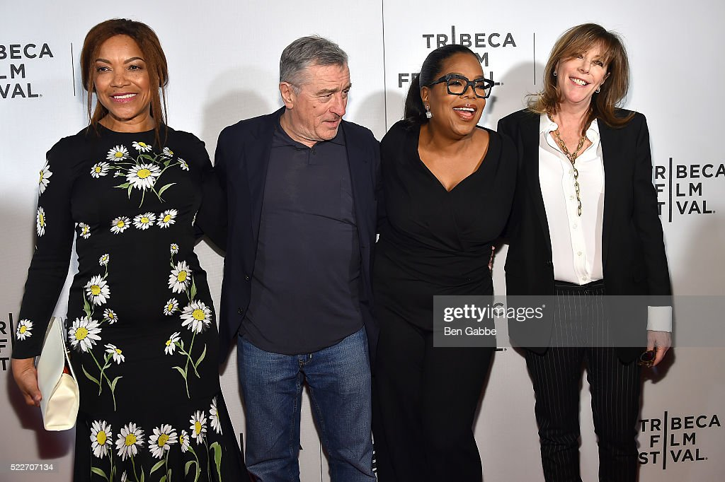 Grace Hightower Robert De Niro Oprah Winfrey and Jane Rosenthal attend the Tribeca Tune In Greenleaf at BMCC John Zuccotti Theater on April 20 2016...