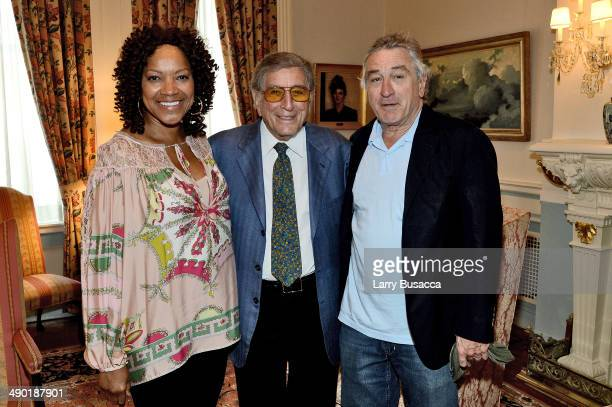 Grace HightowerTony Bennett and Robert DeNiro attends a private reception at the Lotos Club on May 13th 2014 in New York City