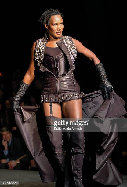 Grace Jones at Diesel Fall 2006 at the Hammerstein Ballroom in New York City New York