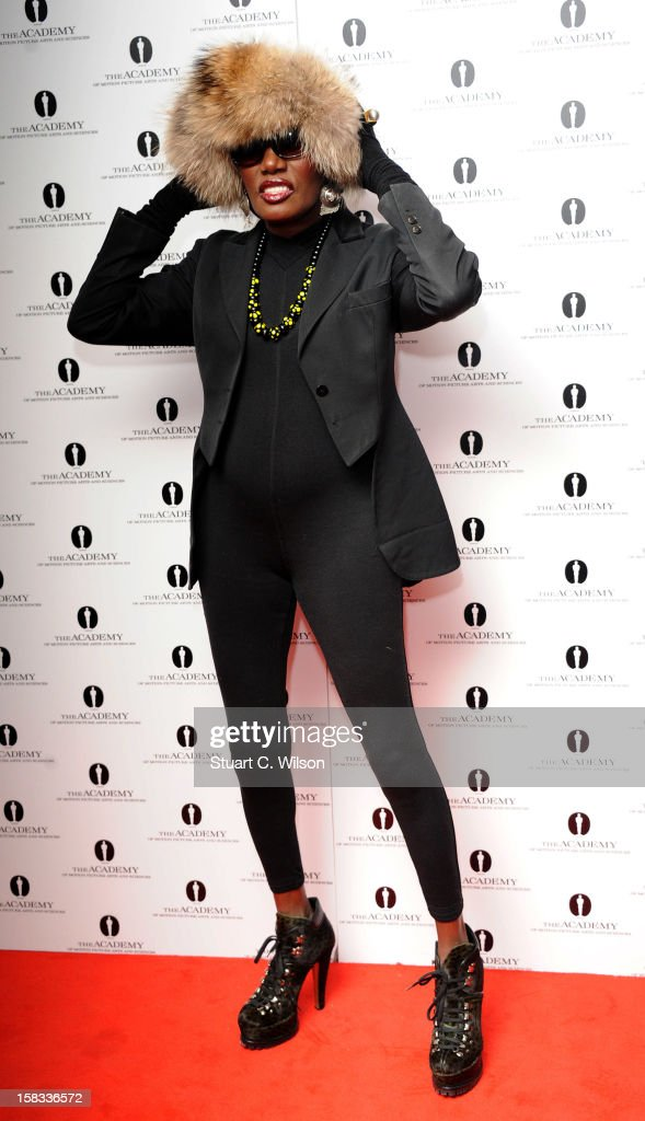 Grace Jones attends as The Academy of Motion Picture Arts and Sciences honours director Pedro Almodovar at Curzon Soho on December 13, 2012 in London, England.