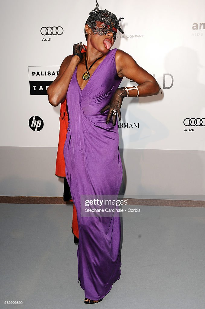 Grace Jones attends the '2010 amfAR's Cinema Against AIDS' Gala - Arrivals