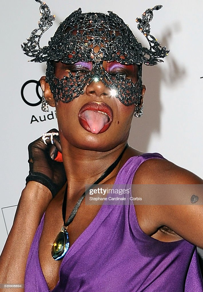Grace Jones attends the '2010 amfAR's Cinema Against AIDS' Gala - Arrivals