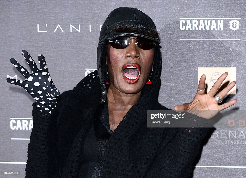 <a gi-track='captionPersonalityLinkClicked' href=/galleries/search?phrase=Grace+Jones+-+Performer&family=editorial&specificpeople=156417 ng-click='$event.stopPropagation()'>Grace Jones</a> attends the inaugural Battersea Power Station annual party held at Battersea Power station on April 30, 2014 in London, England.