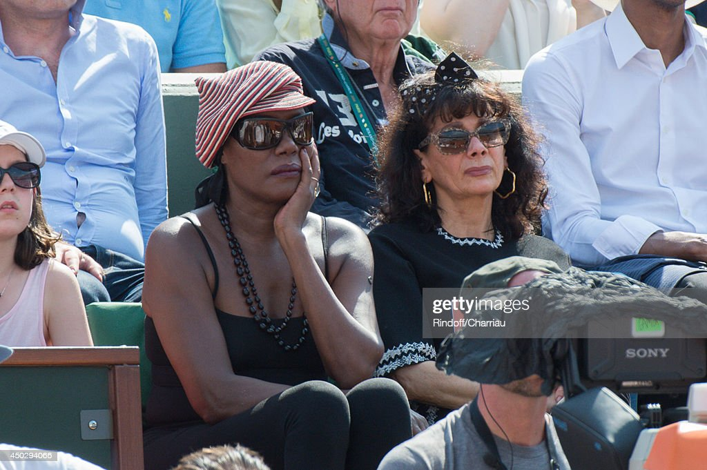 <a gi-track='captionPersonalityLinkClicked' href=/galleries/search?phrase=Grace+Jones+-+Performer&family=editorial&specificpeople=156417 ng-click='$event.stopPropagation()'>Grace Jones</a> attends the men's singles final match between Rafael Nadal of Spain and Novak Djokovic of Serbia on day fifteen of the French Open at Roland Garros on June 8, 2014 in Paris, France.