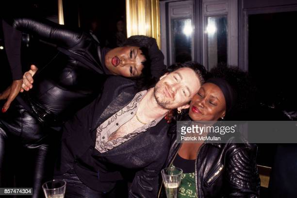 Grace Jones Bob Mary Vinson Polygram's Grammy Awards Afterparty Los Angeles CA March 10 1994