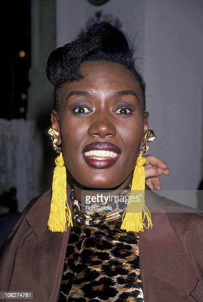 Grace Jones during Grace Jones Sighting at Pamplona Restaurant in New York City May 24 1990 at Pamplona Restaurant in New York City New York United...