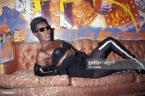 Grace Jones during Party for Angelo Colon January 10 1991 at Limelight in New York City New York United States