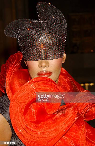 Grace Jones in Issy Miyake during The Fashion Group International Presents The 20th Annual Night of Stars at Cipriani 42nd Street in New York City...