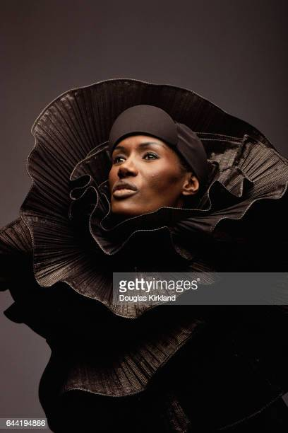 Grace Jones in Ruffled Dress designed by Issey Miyake