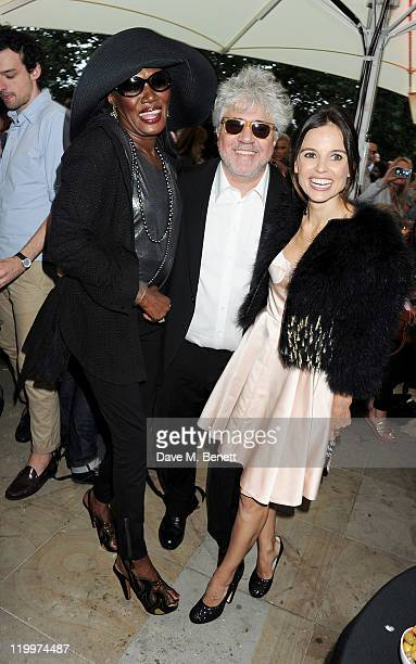 Grace Jones Pedro Almodovar and Elena Anaya arrive at the UK Premiere of 'The Skin I Live In' opening the Film4 Summer Screen with American Express...