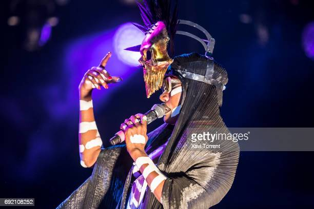 Grace Jones performs in concert during day 4 of Primavera Sound 2017 on June 3 2017 in Barcelona Spain
