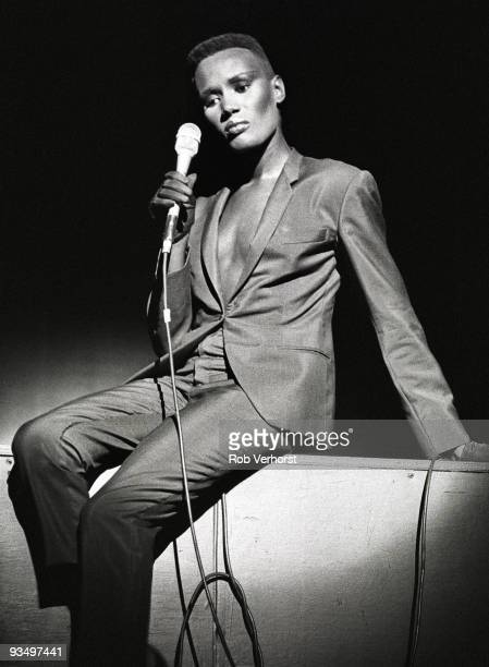 Grace Jones performs live at The Carre Theatre in Amsterdam Netherlands on September 23 1981