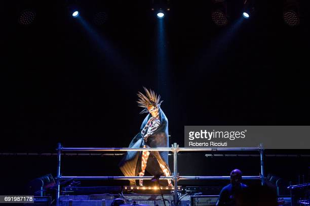 Grace Jones performs on stage during Primavera Sound Festival 2017 Day 4 at Parc del Forum on June 3 2017 in Barcelona Spain
