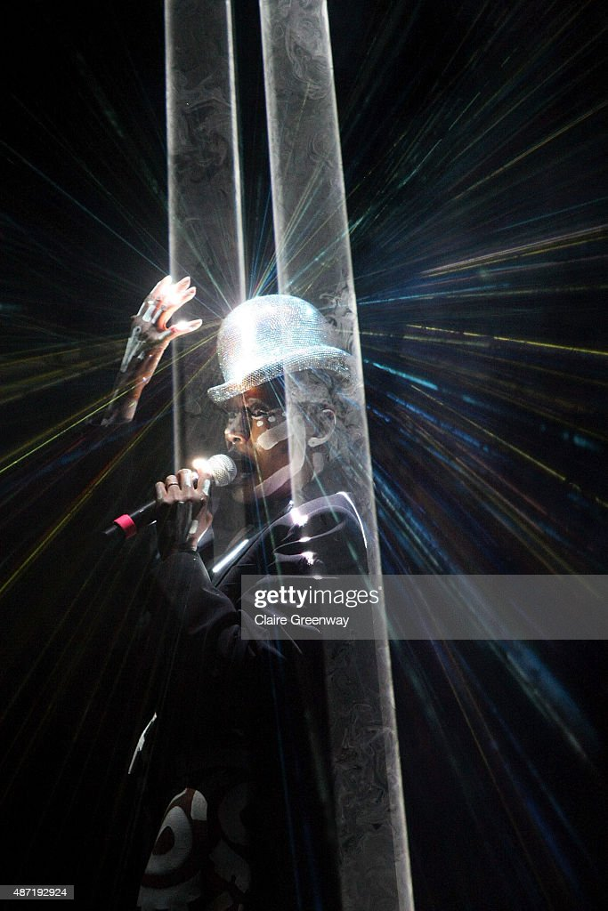 Grace Jones performs on Stage No6 on day 4 of Festival No 6 on September 6, 2015 in Portmeirion, Wales. The 4-day festival of music, arts and culture is set in the Italianate Welsh village designed by architect Sir Clough Williams-Ellis.