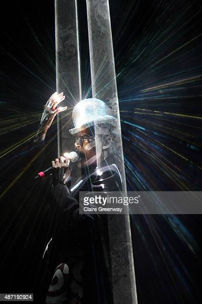 Grace Jones performs on Stage No6 on day 4 of Festival No 6 on September 6 2015 in Portmeirion Wales The 4day festival of music arts and culture is...