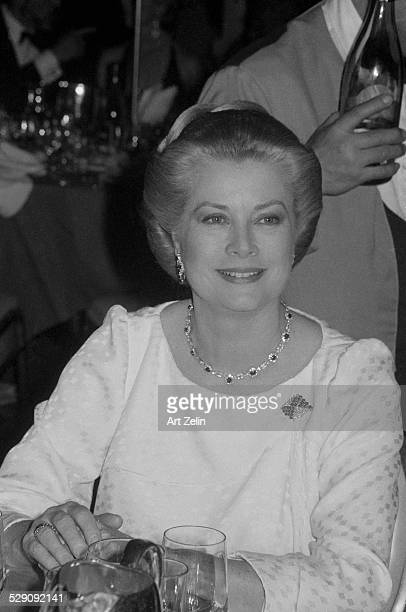 Grace Kelly at a formal dinner circa 1970 New York