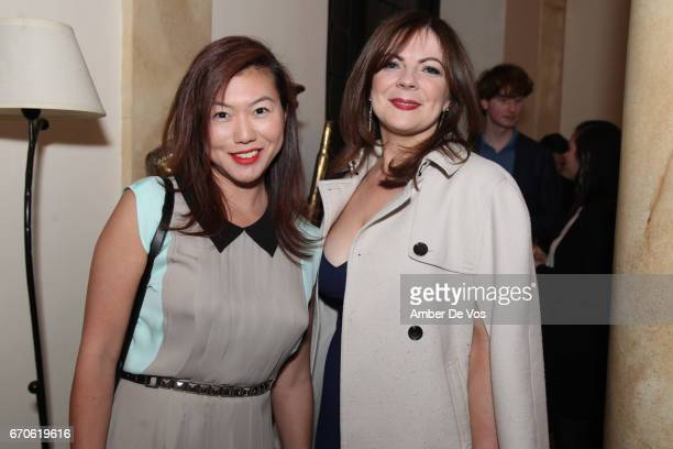 Grace Kim Kasia Bannon attend the FIAF and Carnegie Hall Young Patrons Spring Concert Cocktail at the French Consulate on April 19 2017 in New York...