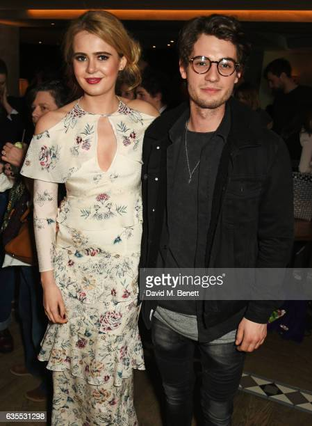 Grace Link and Jack Brett Anderson attend the press night after party for 'Travesties' at 100 Wardour St on February 15 2017 in London England