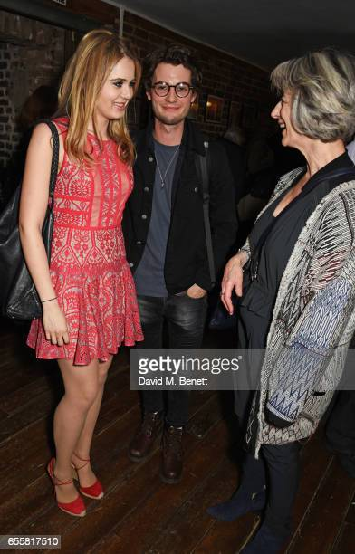 Grace Link and Jack Brett Anderson attend the press night performance of 'Love in Idleness' at the Menier Chocolate Factory on March 20 2017 in...