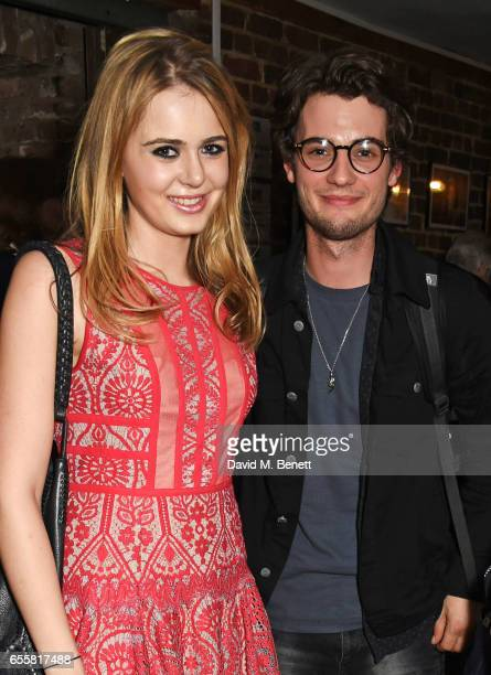 Grace Link Jack Brett Anderson and Maureen Lipman attend the press night performance of 'Love in Idleness' at the Menier Chocolate Factory on March...