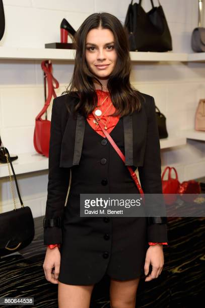 Grace McGovern attends the Lulu x Vaseline launch party at Lulu Guinness at Covent Garden on October 12 2017 in London England