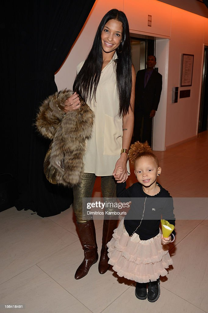 Grace Miguel and daughter attend Barneys New York And Disney Electric Holiday Window Unveiling Hosted By Sarah Jessica Parker, Bob Iger, And Mark Lee on November 14, 2012 in New York City.