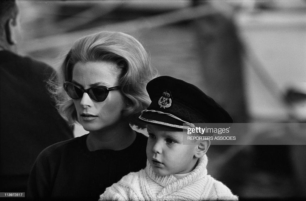 Grace of Monaco and son Albert In Monaco city Monaco On November 17 1962