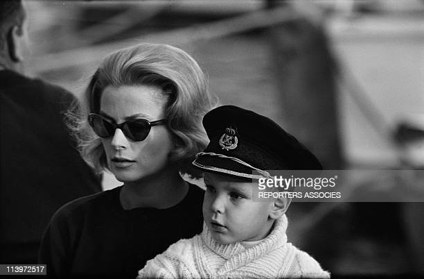 Grace of Monaco and son Albert In Monaco city Monaco On November 17 1962