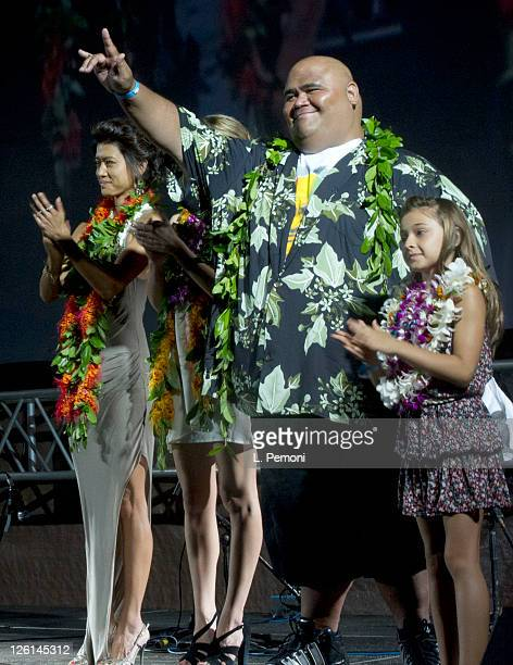 Grace Park and Taylor Wily and Teilor Grubbs attends the screening of 'Hawaii Five0' Season 2 on September 10 2011 in Waikiki Hawaii