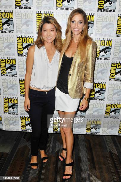 Grace Park and Trician Helfer attend ComicCon International 2017 Day 1 on July 20 2017 in San Diego California