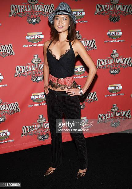 Grace Park during Spike TV's 'Scream Awards 2006' Arrivals at Pantages Theater in Hollywood California United States
