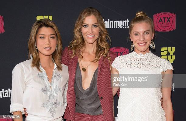 Grace Park Tricia Helfer and Katee Sackhoff attend the closing night reunion panel of Battlestar Galactica presented by Entertainment Weekly and SYFY...