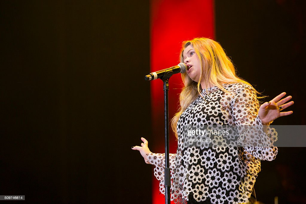 Grace performs at Redfest DXB at Media City Amphitheatre on February 12, 2016 in Dubai, United Arab Emirates.
