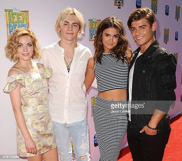 Grace Phipps Ross Lynch Maia Mitchell and Garrett Clayton attend the premiere of 'Teen Beach 2' at Walt Disney Studios on June 22 2015 in Burbank...