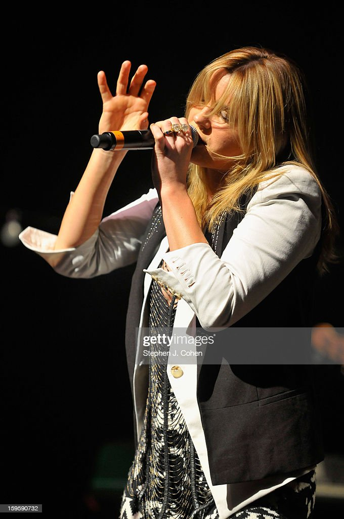 Grace Potter of Grace Potter & The Nocturnals performs at Brown Theatre on January 16, 2013 in Louisville, Kentucky.