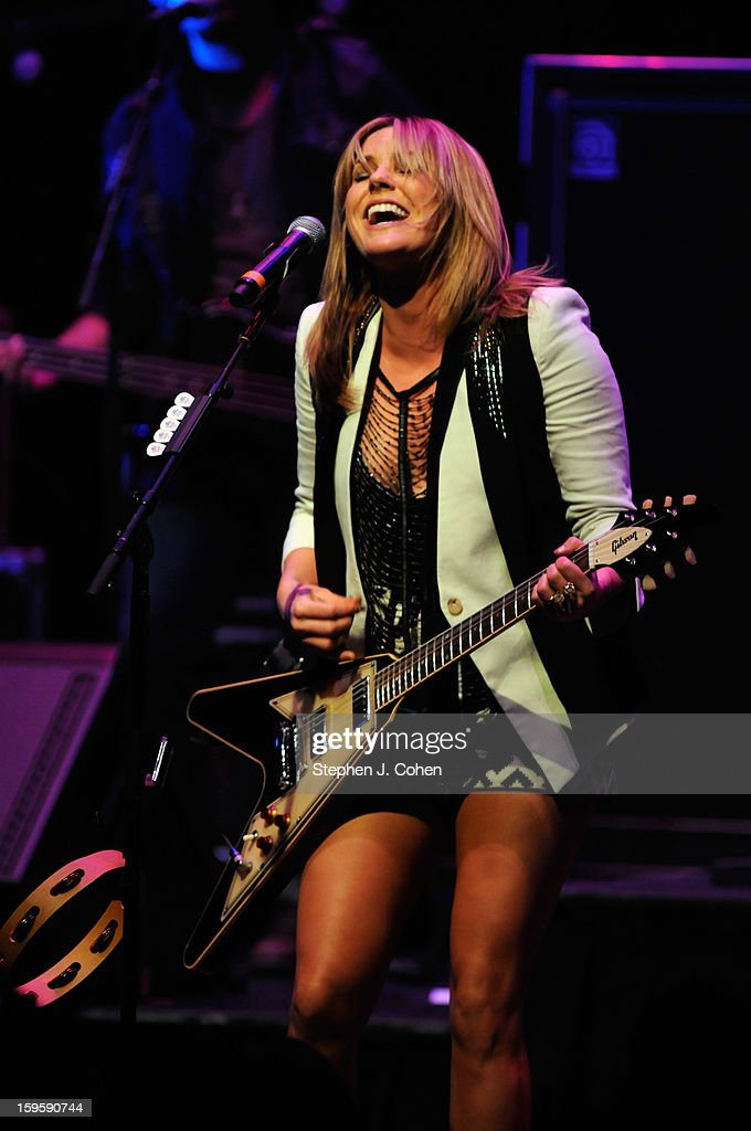 <a gi-track='captionPersonalityLinkClicked' href=/galleries/search?phrase=Grace+Potter&family=editorial&specificpeople=2963080 ng-click='$event.stopPropagation()'>Grace Potter</a> of <a gi-track='captionPersonalityLinkClicked' href=/galleries/search?phrase=Grace+Potter&family=editorial&specificpeople=2963080 ng-click='$event.stopPropagation()'>Grace Potter</a> & The Nocturnals performs at Brown Theatre on January 16, 2013 in Louisville, Kentucky.