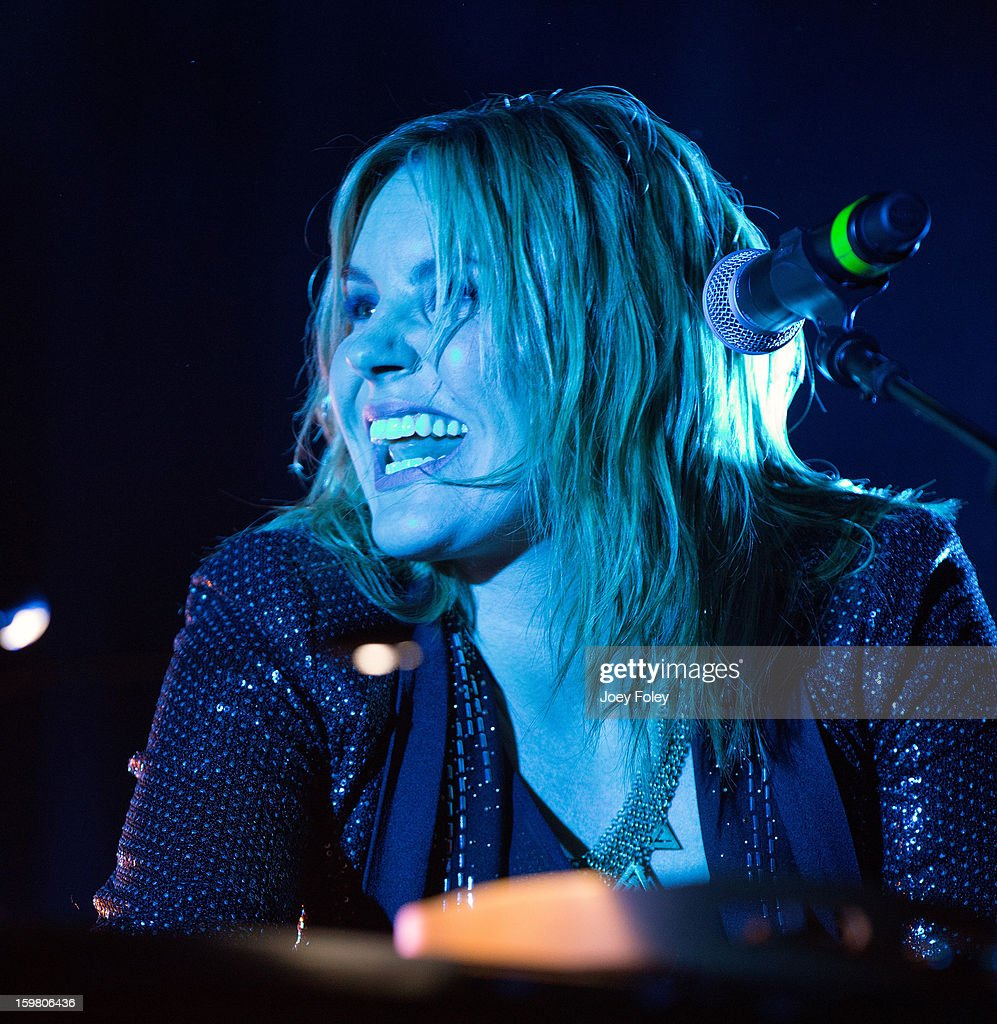 <a gi-track='captionPersonalityLinkClicked' href=/galleries/search?phrase=Grace+Potter&family=editorial&specificpeople=2963080 ng-click='$event.stopPropagation()'>Grace Potter</a> of <a gi-track='captionPersonalityLinkClicked' href=/galleries/search?phrase=Grace+Potter&family=editorial&specificpeople=2963080 ng-click='$event.stopPropagation()'>Grace Potter</a> & The Nocturnals performs at The Egyptian Room at Old National Centre on January 12, 2013 in Indianapolis, Indiana.