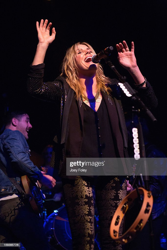 <a gi-track='captionPersonalityLinkClicked' href=/galleries/search?phrase=Grace+Potter&family=editorial&specificpeople=2963080 ng-click='$event.stopPropagation()'>Grace Potter</a> & The Nocturnals performs at The Egyptian Room at Old National Centre on January 12, 2013 in Indianapolis, Indiana.