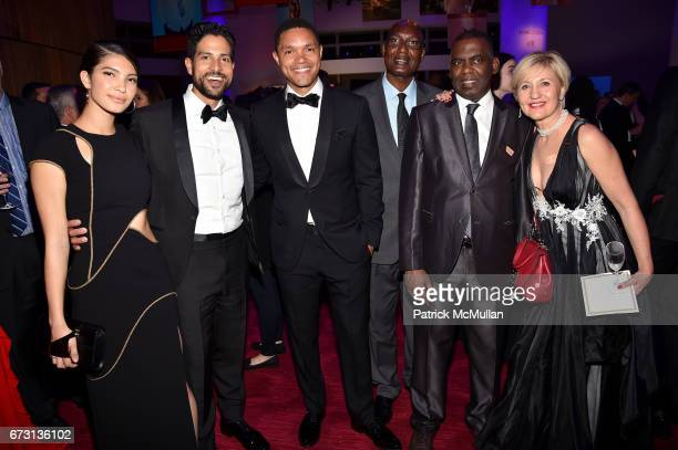 Grace Rodriguez Adam Rodriguez Trevor Noah Bakary Tandia Biram Dah Abeid and Glenda Gray attend the 2017 TIME 100 Gala at Jazz at Lincoln Center on...
