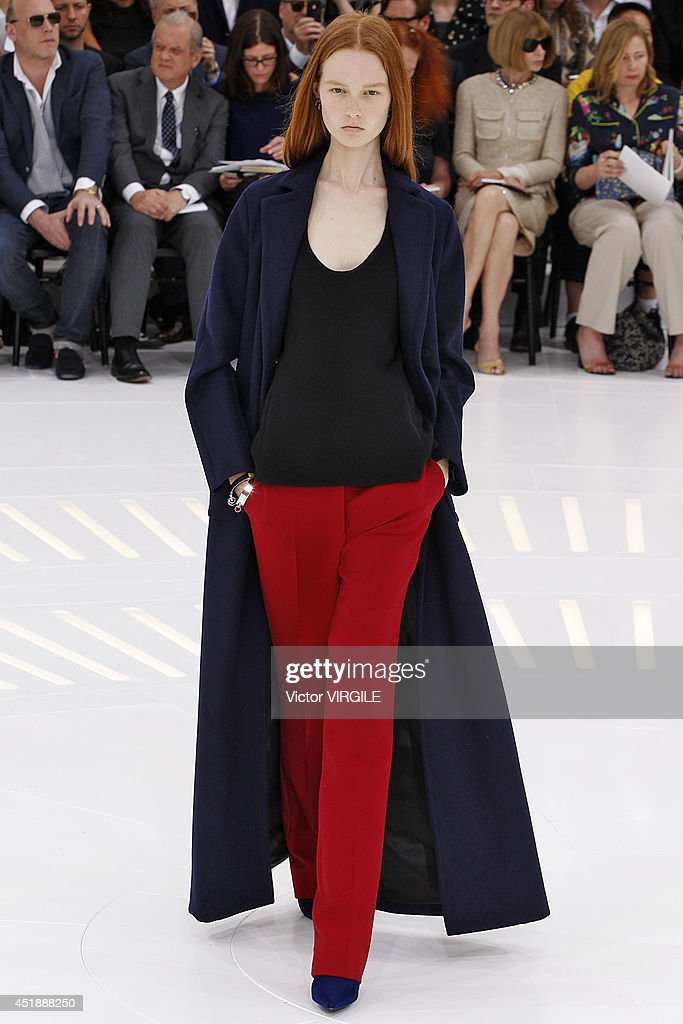 Grace Simmons walks the runway during the Christian Dior show as part of Paris Fashion Week - Haute Couture Fall/Winter 2014-2015 at Muse Rodin on July 7, 2014 in Paris, France.