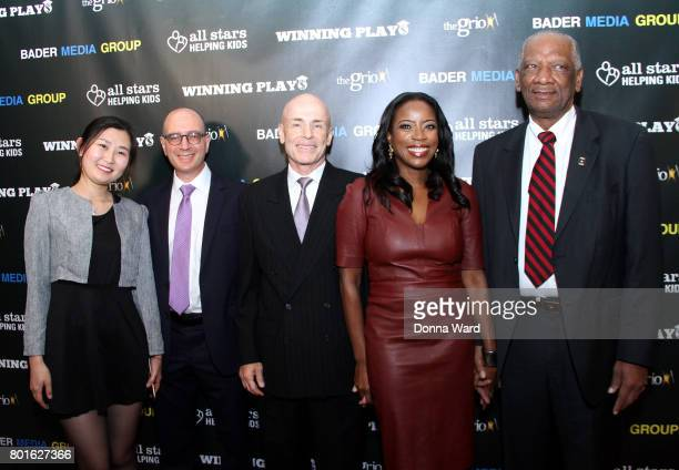 Grace Vandecruze and guests attend the Winning Play$ Black Women Feminism Empowerment panel at The Paley Center for Media on June 26 2017 in New York...