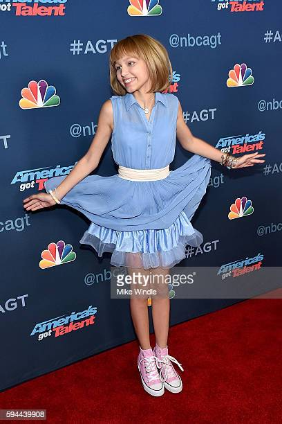 Grace Vanderwaal attends the 'America's Got Talent' Season 11 Live Show at Dolby Theatre on August 23 2016 in Hollywood California