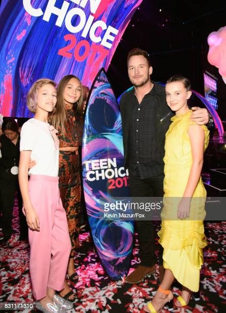 Grace VanderWaal Maddie Ziegler Chris Pratt winner of Choice SciFi Movie Actor for 'Guardians of the Galaxy Vol 2' and Millie Bobby Brown attend the...